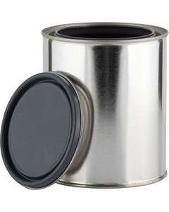 1 Quart Metal Paint Can with Lid, Gray Epoxy Phenolic Lined