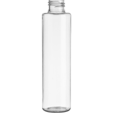4 oz. Clear PET Plastic Cylinder Bottle, 24mm 24-410