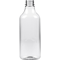 16 oz. Clear PET Plastic Sauce Bottle, 28mm 28-400