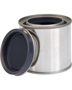 1/4 Pint Metal Paint Can with Lid, Gray Lined