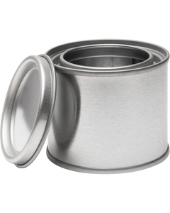 1/4 Pint Metal Paint Can with Lid, Unlined