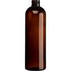 12 oz. Amber PET Plastic Bullet Round Bottle, 24mm 24-410