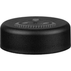 38mm 38-400 Black Smooth Child Resistant Cap (Pictorial) w/HIS TE Liner for HDPE, 2-Piece, Tamper Indicating