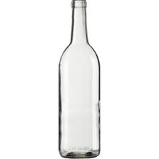 750 ml Clear Bordeaux Wine Bottles, Cork, 12/cs