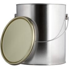 1 Gallon Metal Paint Can with Ears, Bail and Lid, Gold Phenolic Lined