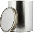 1 Gallon Metal Paint Can with Lid, Gold Phenolic Lined
