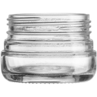 2 oz. (60 ml) 53mm 53-400 Clear Glass Jar, Capacity: 2 – 3.5 grams (1/8 oz. Flower), 140/Box