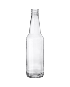 12 oz. (355 ml) Clear Glass Long Neck Beer Bottle, Crown Pry-Off, 26-611, 24/cs