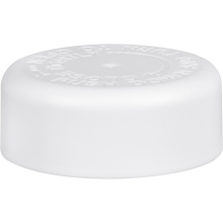 33mm 33-400 White Smooth Child Resistant Cap (PDT) w/Universal HIS Liner