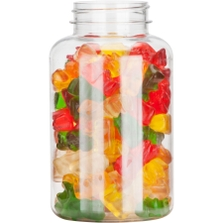 10 oz. (300 cc) Clear PET Plastic Packer Bottle, 45mm 45-400