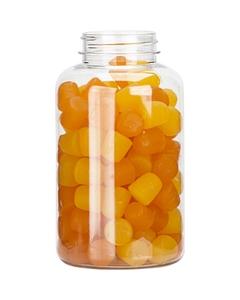 13.5 oz. (400 cc) Clear PET Plastic Packer Bottle, 45mm 45-400