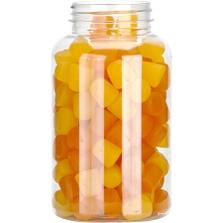 16 oz. (500 cc) Clear PET Plastic Packer Bottle, 53mm 53-400