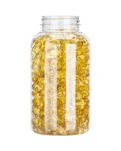 21 oz. (625 cc) Clear PET Plastic Packer Bottle, 53mm 53-400