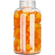 25 oz. (750 cc) Clear PET Plastic Packer Bottle, 53mm 53-400
