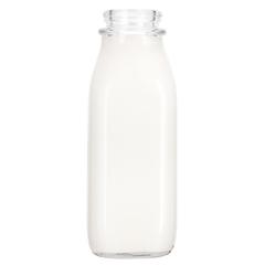 16 oz. Tall Pint Glass Milk Bottle