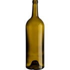 1.5 L Antique Green Bordeaux Wine Bottles, Punted, Cork