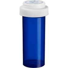 13 Dram Blue Plastic Vial w/Reversible Cap, 275/cs