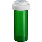 13 Dram Green Plastic Vial w/Reversible Cap, 275/cs