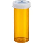13 Dram Amber Plastic Vial w/Child Resistant Cap, 275/cs