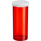 16 Dram Red Plastic Vial w/Snap Cap, 240/cs