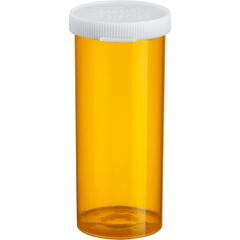 16 Dram Amber Plastic Vial w/Snap Cap, 300/cs
