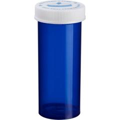 16 Dram Blue Plastic Vial w/Child Resistant Cap, 270/cs