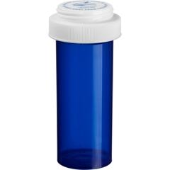 20 Dram Blue Plastic Vial w/Reversible Cap, 270/cs
