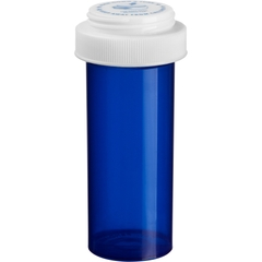 30 Dram Blue Plastic Vial w/Reversible Cap, 195/cs