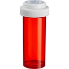 30 Dram Red Plastic Vial w/Reversible Cap, 195/cs