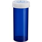 30 Dram Blue Plastic Vial w/Child Resistant Cap, 240/cs