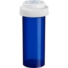 40 Dram Blue Plastic Vial w/Reversible Cap, 130/cs