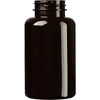 6.75 oz. (200 cc) Dark Amber PET Plastic Packer Bottle, 38mm 38-400