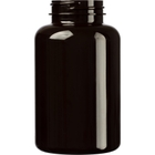 10 oz. (300 cc) Dark Amber PET Plastic Packer Bottle, 45mm 45-400