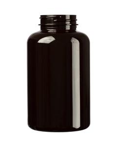 13.5 oz. (400 cc) Dark Amber PET Plastic Packer Bottle, 45mm 45-400