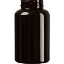 16 oz. (500 cc) Dark Amber PET Plastic Packer Bottle, 53mm 53-400