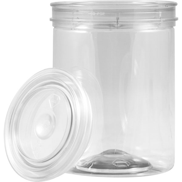 1 2 Pint Clear Plastic Paint Style Can W Lid