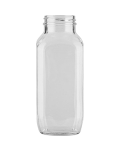 16 oz. French Square Glass Jar, 48mm 48-400