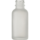 1 oz. Frosted Boston Round Glass Bottle, 20mm 20-400