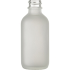 2 oz. Frosted Boston Round Glass Bottle, 20mm 20-400