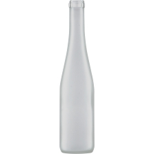 375 ml Frosted Stretch Hock Wine Bottles, 12/cs