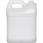 2 Gallon (8L) Natural HDPE Plastic F-Style Bottle, 38mm 38-400
