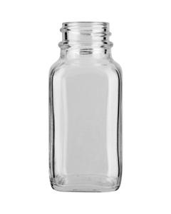 2 oz. French Square Glass Jar, 28mm 28-400