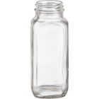 8 oz. French Square Glass Jar, 43mm 43-400