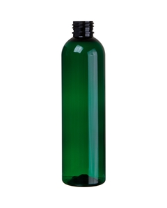 8 oz. Green PET Plastic Bullet Bottle, 24mm 24-410