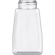 8 oz. Clear PET Plastic Oblong Spice Jar, 43mm 43-485