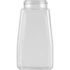 16 oz. Clear PET Plastic Oblong Spice Jar, 53mm 53-485