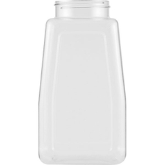 32 oz. Clear PET Plastic Oblong Spice Jar, 63mm 63-485