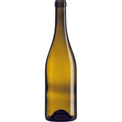 750 ml Antique Green Burgundy Wine Bottles, Punted, Cork, 12/cs