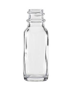 1/2 oz. Clear Boston Round Glass Bottle, 18mm 18-400