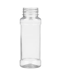 6.75 oz. (200ml) Clear PET Plastic Spice Jar, 38mm-38-3STRT
